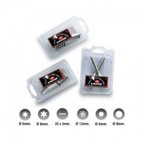 Douilles Lacor INOX - lot de 6 assorties