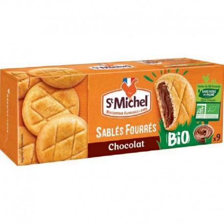 Sablés fourrés chocolat BIO St Michel 135g - 8 paquets