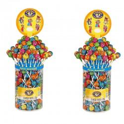 Sucettes boules aux fruits et cola Pierrot Gourmand - Les 2 x 150 en stock