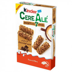 Kinder CereAlé pépites de chocolat noir - carton de 20 paquets T2x6 en stock