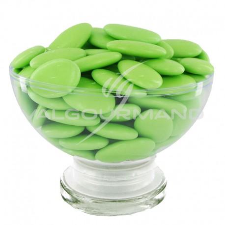 Dragées Avola dauphine (45% amande) VERT TILLEUL brillant - 500g