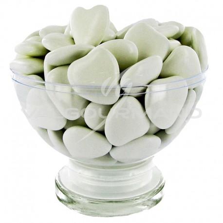 Coeurs GM 2cm au chocolat BLANC - 1kg