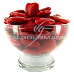 Coeurs GM 2cm au chocolat ROUGE - 1kg