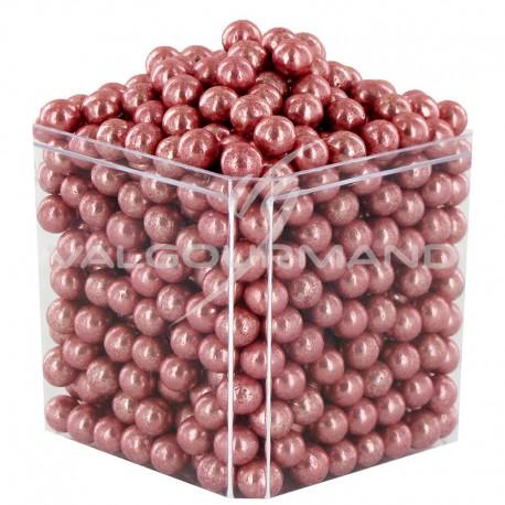 Perles au sucre ROSE GOLD - sachet de 250g