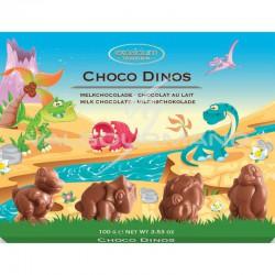 Choco dino's en chocolat au lait - boîte de 100g