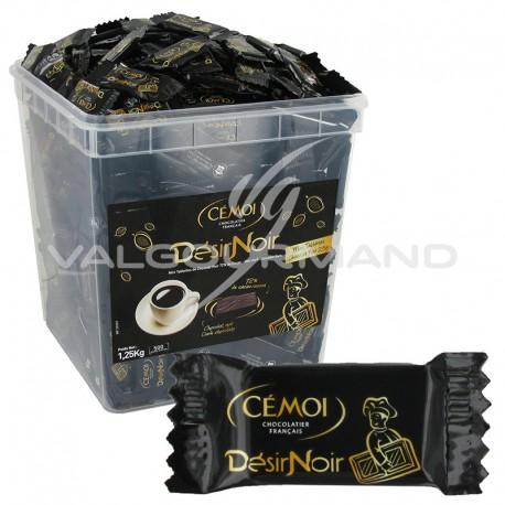 Mini Tablettes désir noir 72% cacao 2,5g - tubo de 500