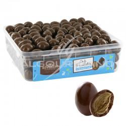 Oeufs feuilletés en chocolat au lait - tubo de1kg en stock