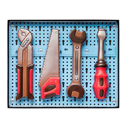 Coffret 4 outils - sujets en chocolat au lait - 150g