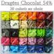 Dragées chocolat 54% ROUGE - 1kg