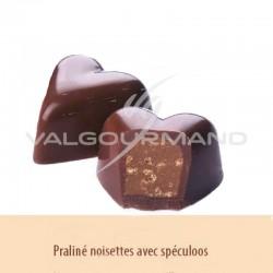 Chocolats noir au praliné croquant et spéculoos - boîte de 1.05kg en stock