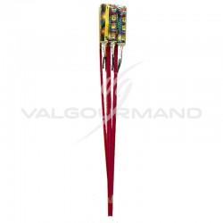 Fusée multicolore - sachet de 6 en stock