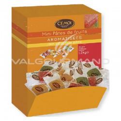 Mini pâtes de fruits pliées - arômes assortis - boîte de 200 pièces