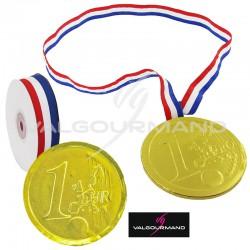 Médailles en chocolat sous alu, Ruban et Etiquette - KIT pour 30 pièces