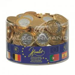 Pièces Euro en chocolat au lait - tubo de 1kg