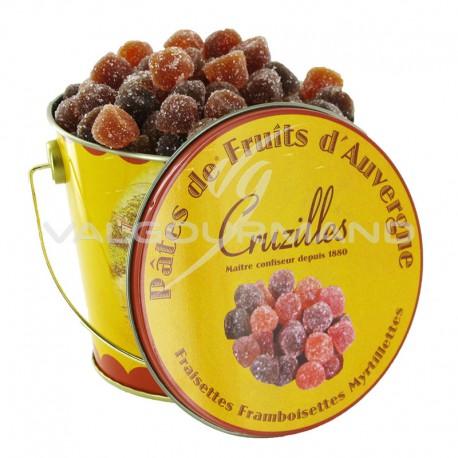 Pâte de fruits fraise, myrtille et framboise - le seau de 250g