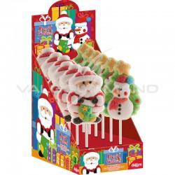 Sucettes assorties marshmallow - boîte présentoir de 12 en stock