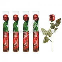Bouton de roses en chocolat 26cm - le lot de 5