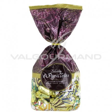 Papillotes Révillon 6 recettes en chocolat lait, noir et blanc - sachet de 465g