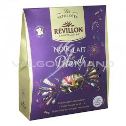 Papillotes Révillon en chocolat lait et noir avec pétards - pochette de 300g