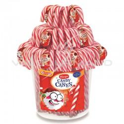 Méga Candy canes rayées fraise 17cm - tubo de 100