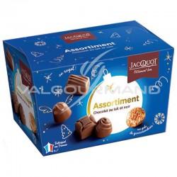 PRECOMMANDE - Assortiment de chocolat lait et noir - ballotin de 200g