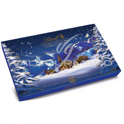 Boîte décor Noël chocolats assortis Lindt - 469g en stock