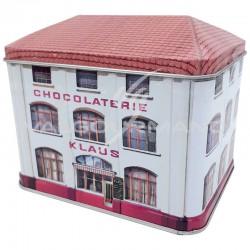 Boîte usine Klaus garnie caramels au beurre salé 300g