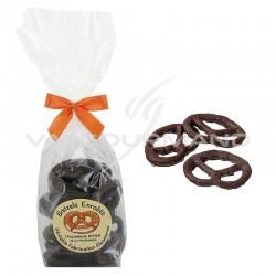 Bretzels salés enrobés de chocolat noir - 100g