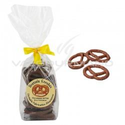 Bretzels salés enrobés de chocolat au lait - 100g