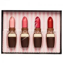 Rouge à lèvres en chocolat au lait décoré - coffret de 55g