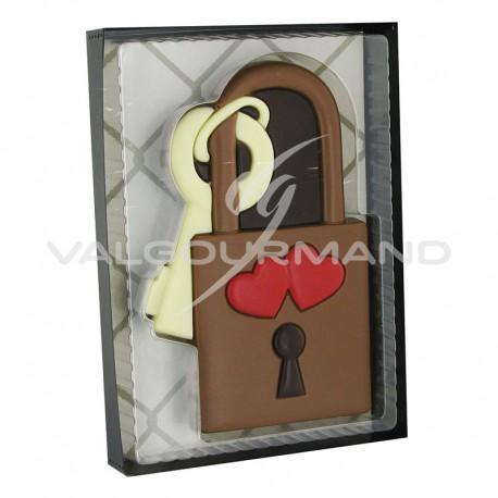 Cadenas et sa clef en chocolat décoré - coffret de 80g