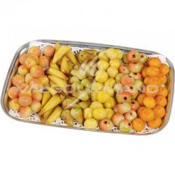 Mini fruits en pâte amande - plateau de 2kg en stock