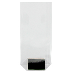 Sachets transparents avec fond carton ARGENT 120 x 260 GM - 100 pièces