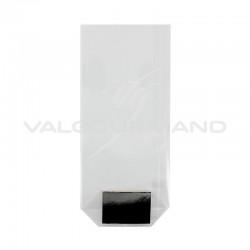 Sachets transparents avec fond carton ARGENT 100 x 220 PM - 100 pièces