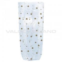 Sachets fond carton décor stars 100 x 220 - 100 pièces