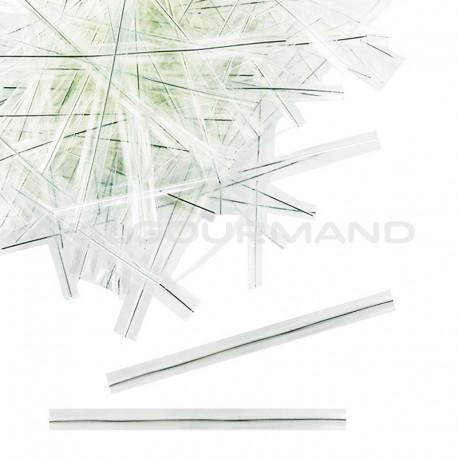 Attache-sachets 9cm incolore - 2000 liens