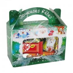 Valisette Surprises de Noël - garnie 22 confiseries en stock