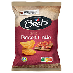 Chips Brets bacon grille 125g - 10 paquets