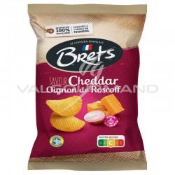 Chips Brets cheddar oignons de Roscoff AOC 125g - 10 paquets