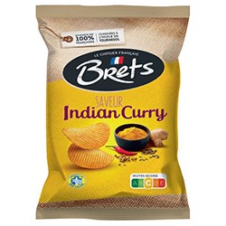 Chips Brets indien curry 125g - 10 paquets