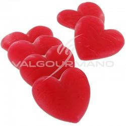 Coeurs Géants gélifiés lisses blanc/rouge Pierrot Gourmand - 1,5kg en stock