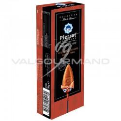 Sucettes caramel Pierrot Gourmand - Etui de 10 en stock