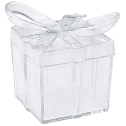 Boîtes transparentes Noeud - 4 pièces