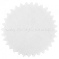Tulles dentelés Cristal BLANC - 50 pièces
