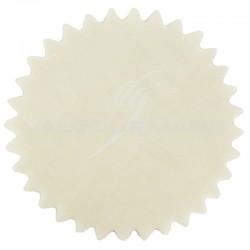 Tulles dentelés Cristal IVOIRE - 50 pièces