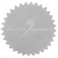 Tulles dentelés Cristal GRIS - 50 pièces