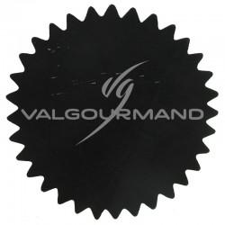 Tulles dentelés Cristal NOIR - 50 pièces