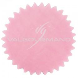 Tulles dentelés Cristal ROSE - 50 pièces en stock