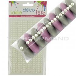 Perles nacrées autocollantes - plaque de 513 en stock