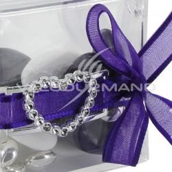 Boucles Rectangle et Coeur ARGENT - 10 pièces